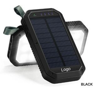 Solar charger with 21 Led lights 8000mAh